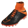 Nike Hypervenom Phantom II Leather AG-R (Black/Total Orange)