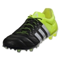 adidas ACE 15.1 FG/AG Leather (Black/White/Solar Yellow)