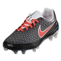 Nike Women's Magista Opus FG (Black/Bright Crimson)