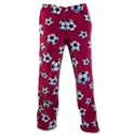 Soccer Ball Warm Lounge Pants (Red)