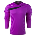 Under Armour Horizontal Long Sleeve Goalkeeper Jersey (Purple)