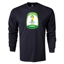 Brasilia 2014 FIFA World Cup Brazil(TM) Men's LS T-shirt (Black)