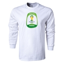 Brasilia 2014 FIFA World Cup Brazil(TM) Men's LS T-shirt (White)