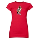 2006 FIFA World Cup Goleo VI Mascot Junior Women's T-Shirt (Red)