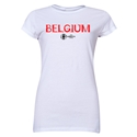 Belgium Euro 2016 Core Junior Women's T-Shirt (White)