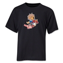 1966 FIFA World Cup Willie Mascot Youth T-Shirt (Black)