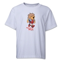 1966 FIFA World Cup Willie Mascot Youth T-Shirt (White)