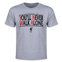 Liverpool You'll Never Walk Alone Youth T-Shirt (Gray)