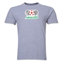 1986 FIFA World Cup Mexico Men's Premium Historical Poster T-Shirt (Grey)