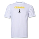 Colombia 2014 FIFA World Cup Brazil(TM) Men's Core Training T-Shirt (White)