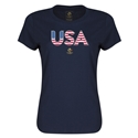 Estados Unidos Copa America 2016 Elements Camiseta Femenil (Azul)