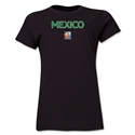 Mexico FIFA Women's World Cup Canada 2015(TM) Women's T-Shirt (Black)