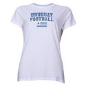 Uruguay Women's Football T-Shirt (White)