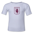Aston Villa Distressed Club Logo Kids T-Shirt (White)