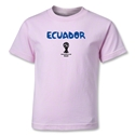 Ecuador 2014 FIFA World Cup Brazil(TM) Kids Core T-Shirt (Pink)