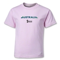 Australia 2014 FIFA World Cup Brazil(TM) Kids Palm T-Shirt (Pink)