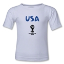 USA 2014 FIFA World Cup Brazil(TM) Kids Core T-Shirt (White)