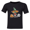 1986 FIFA World Cup Pique Mascot Toddler T-Shirt (Black)