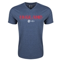 England Euro 2016 Core V-Neck T-Shirt (Heather Navy)