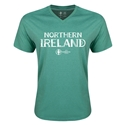 Northern Ireland Euro 2016 Core V-Neck T-Shirt (Heather Green)