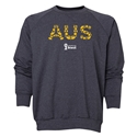 Australia 2014 FIFA World Cup Brazil(TM) Men's Elements Crewneck Sweatshirt (Dark Grey)