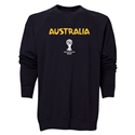 Australia 2014 FIFA World Cup Brazil(TM) Men's Core Crewneck Sweatshirt (Black)
