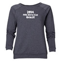 2014 FIFA World Cup Brazil(TM) Women's Official Logotype Crewneck Sweatshirt (Dark Grey)