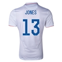 USA 14/15 JONES Authentic Home Soccer Jersey