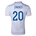 USA 14/15 ZARDES Authentic Home Soccer Jersey