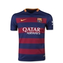 Barcelona 15/16 Youth Home Soccer Jersey