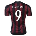 AC Milan 15/16 L. ADRIANO Badge of Honor Home Soccer Jersey