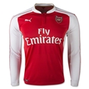 Arsenal 15/16 LS Home Soccer Jersey