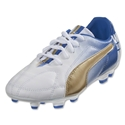 PUMA MB 9 FG Junior (White/Team Gold/Team Power Blue)