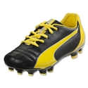 PUMA Marco 4 FG Junior (Black/Vibrant Yellow/Puma Silver)