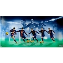 Upper Deck Barcelona Messi Sequence 36 x 18 Signed Framed Picture