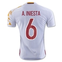 Spain 2016 A. INIESTA Authentic Away Soccer Jersey