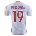 Spain 2016 DIEGO COSTA Authentic Away Soccer Jersey