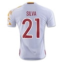 Spain 2016 SILVA Authentic Away Soccer Jersey