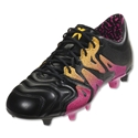 adidas X 15.1 FG/AG Leather (Black/Shock Pink)