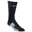 Nike Elite Match Fit Hypervenom Football Crew Sock (Blk/Green)
