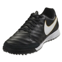 Nike Tiempo Genio II Leather TF (Black/White)