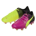 Puma evoPower 1.3 Tricks FG Junior (Pink Glo/Safety Yellow)