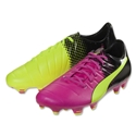 Puma evoPower 3.3 Tricks FG (Pink Glo/Safety Yellow)