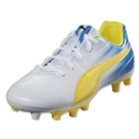 PUMA Attack Pack Aguero v2 FG Junior (White/Blazing Yellow/Surf Web)