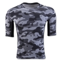 adidas TechFit Compression Camo T-Shirt (Gray)