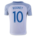 England 2016 ROONEY Youth Home Soccer Jersey