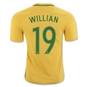 Brazil 2016 WILLIAN Authentic Home Soccer Jersey