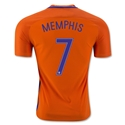 Netherlands 2016 MEMPHIS Authentic Home Soccer Jersey