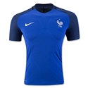 France 2016 Authentic Home Soccer Jersey