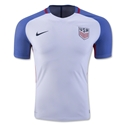 USA 2016 Authentic Home Soccer Jersey